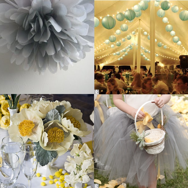 Wedding Wednesday Blue Grey Yellow