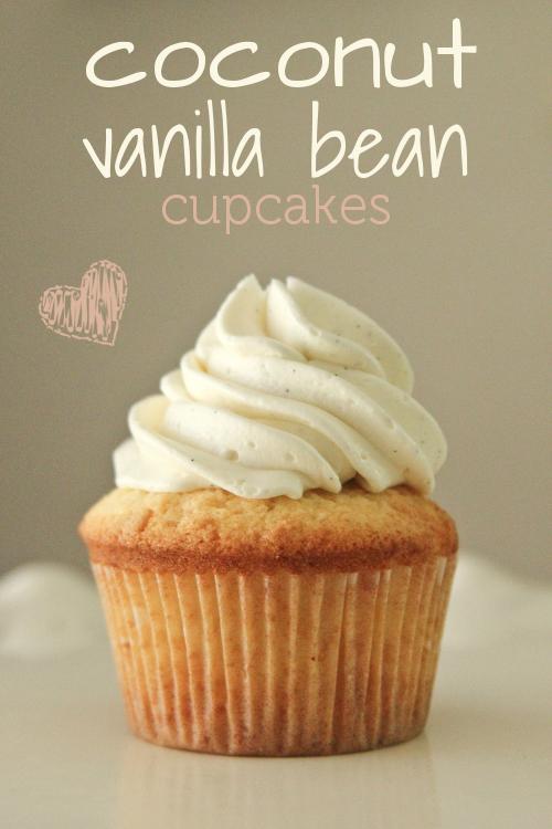 I Bake: Coconut Vanilla Bean Cupcakes   Woodland Dreams